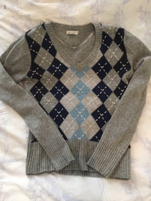 Tom Tailor V-Neck Sweater silver-colored-dark blue