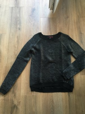 Tom Tailor Pullover schwarz silber XS 34 36 Strick