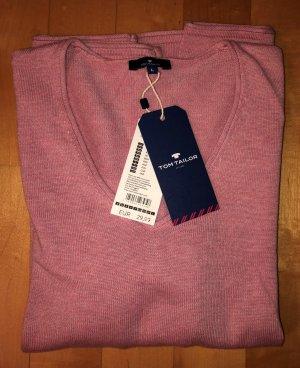 Tom Tailor Pullover V-Ausschnitt Rosa rose L Neu