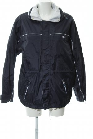 Tom Tailor Raincoat dark blue-white casual look