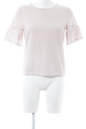 Tom Tailor Maglietta a righe crema-rosa antico con glitter