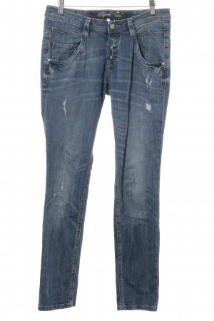 Tom Tailor Jeans a sigaretta blu stile casual