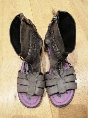 Tom Tailor Sandalo romano grigio-grigio scuro