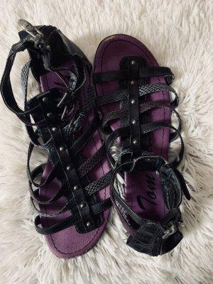 Tom Tailor Romeinse sandalen donkerpaars-zwart