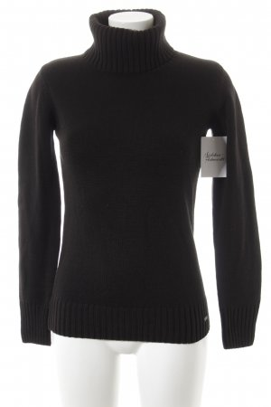 Tom Tailor Rollkragenpullover schwarz Casual-Look