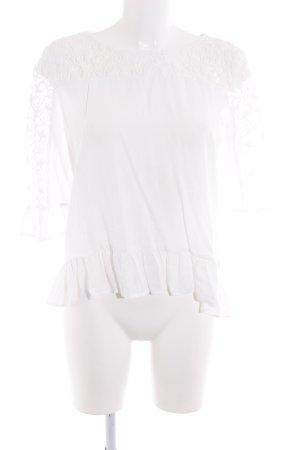 Tom Tailor Rüschen-Bluse weiß Romantik-Look