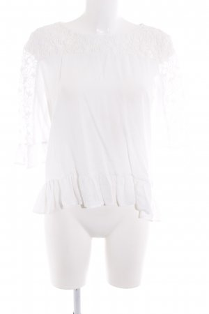 Tom Tailor Ruffled Blouse white romantic style