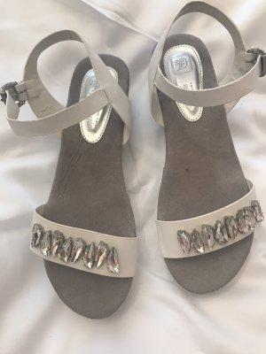 Tom Tailor Plateauzool Sandalen met Hoge Hakken wit-zilver