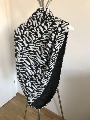 Tom Tailor Denim Bufanda tubo negro-blanco