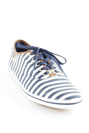 Tom Tailor Schnürsneaker wollweiß-dunkelblau Streifenmuster Casual-Look