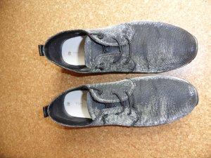 Tom Tailor Schuhe , Größe 39, schwarz / silber schimmernd