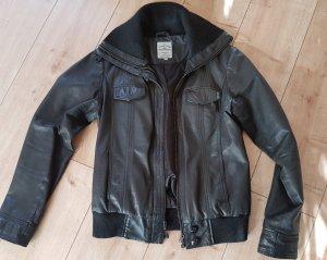 Tom Tailor schwarze Lederjacke M 38