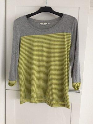 Tom Tailor Shirt Gestreift Streifen Pullover Größe S 38 gelb grau