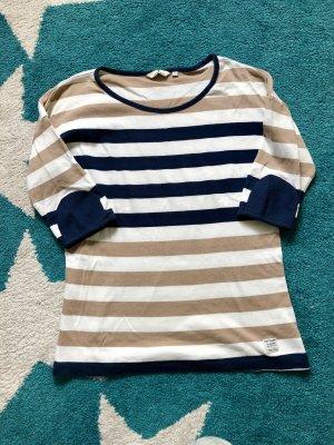 Tom Tailor Gestreept shirt beige-donkerblauw