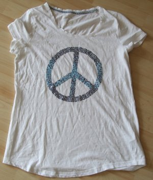 Tom Tailor Shirt PEACE mit Pailletten