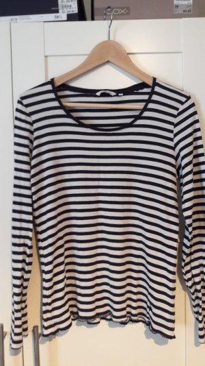 Tom Tailor Shirt Ringel bretonniere M cremeweiß-schwarz