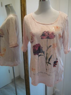 Tom Tailor Shirt Rose Blüten Flowers Gr 42