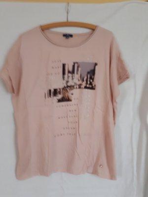 Tom Tailor Shirt rose mit Druck