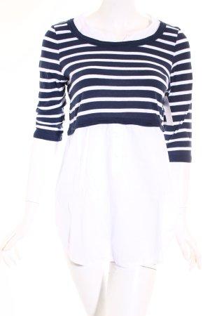 Tom Tailor Shirt weiß-dunkelblau Streifenmuster klassischer Stil