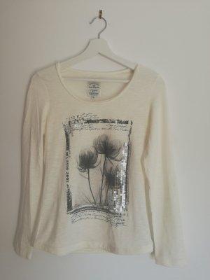 TOM TAILOR Shirt - Weiß mit Blumen Print