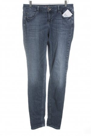 Tom Tailor Skinny Jeans blau-wollweiß Washed-Optik