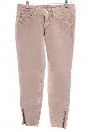 Tom Tailor Skinny Jeans camel-goldfarben Logoprägung