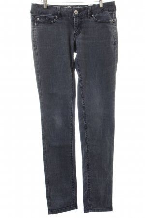 Tom Tailor Skinny Jeans grau-wollweiß Washed-Optik