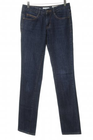Tom Tailor Slim Jeans dunkelblau Steppmuster Casual-Look