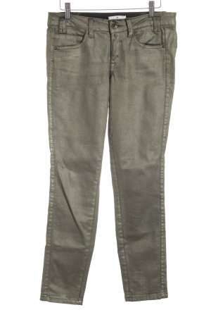 Tom Tailor Slim Jeans goldfarben Metallic-Optik