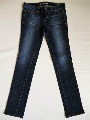 Tom Tailor Jeans slim bleu foncé coton