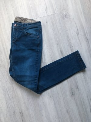 Tom Tailor Slim straight denim dunkelblau Röhrenjeans Molita