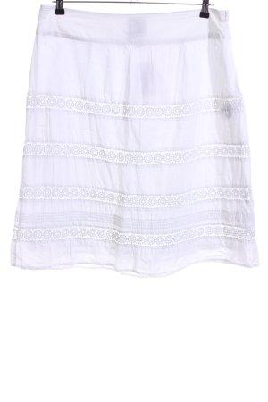 Tom Tailor Kanten rok wit grafisch patroon casual uitstraling
