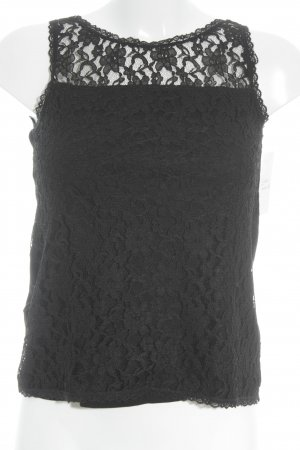 Tom Tailor Lace Top black material mix look