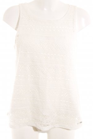 Tom Tailor Lace Top natural white Aztec pattern romantic style