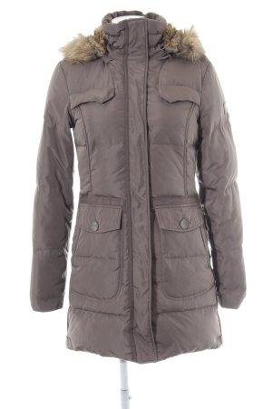 Tom Tailor Manteau matelassé gris brun style décontracté