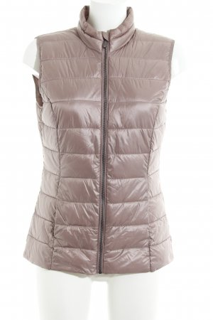Tom Tailor Quilted Gilet rose-gold-coloured casual look