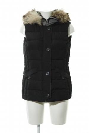 Tom Tailor Quilted Gilet black-light grey casual look