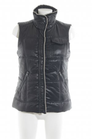 Tom Tailor Quilted Gilet black quilting pattern casual look