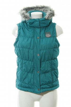 Tom Tailor Quilted Gilet turquoise casual look