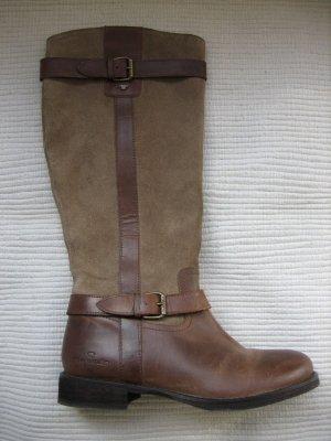 tom tailor stiefel brau leder/wildleder neu gr. 38