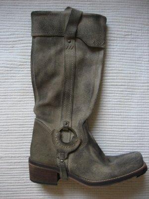 tom tailor stiefel neu gr. 38 wildleder grau vintage