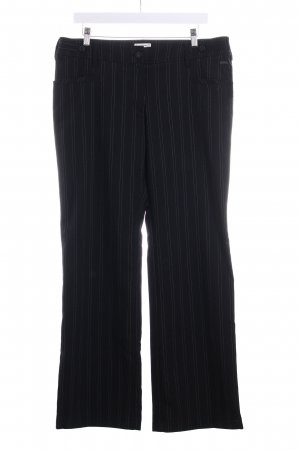 Tom Tailor Pantalone jersey nero-bianco gessato stile professionale