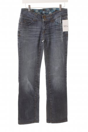 Tom Tailor Straight-Leg Jeans blau Used-Optik