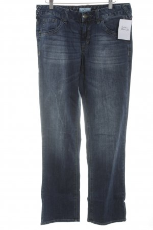 Tom Tailor Straight-Leg Jeans dunkelblau-stahlblau Casual-Look
