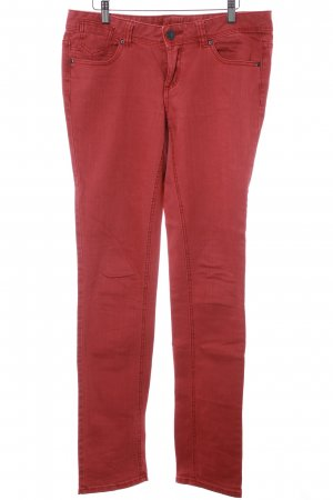 Tom Tailor Straight-Leg Jeans rostrot Casual-Look