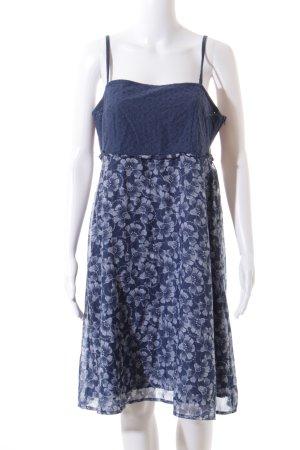 Tom Tailor Strandkleid blau-weiß florales Muster Beach-Look