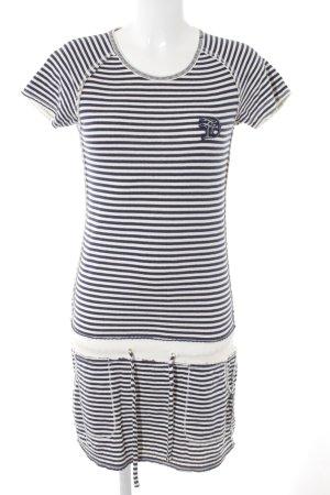 Tom Tailor Strandkleid weiß-dunkelblau Streifenmuster schlichter Stil