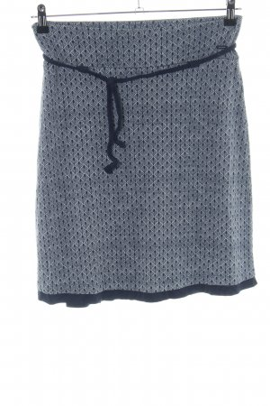 Tom Tailor Stretch Skirt light grey-black abstract pattern casual look