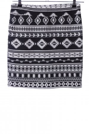 Tom Tailor Stretch Skirt black-white allover print casual look