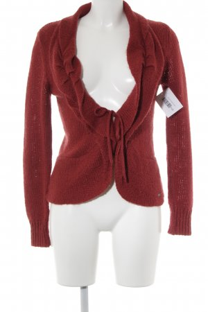 Tom Tailor Strick Cardigan dunkelrot Casual-Look